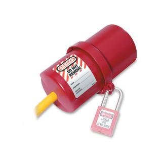 Master Lock Rotating Electrical Plug Lockout for 110 and 220 Volt Plugs