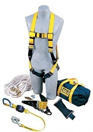 DBI Sala Roofer's Fall Protection Kit with Heavy-Duty Anchor
