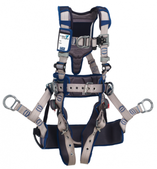 DBI Sala ExoFit Strata Tower Climbing Harness with Tongue and Buckle Leg Straps