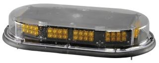 North American Signal Low Profile Mini LED Bar - Permanent Mount - Amber