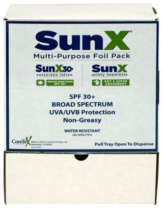 SunX30 Lotion and Wipe Combo Pack, 50/Box