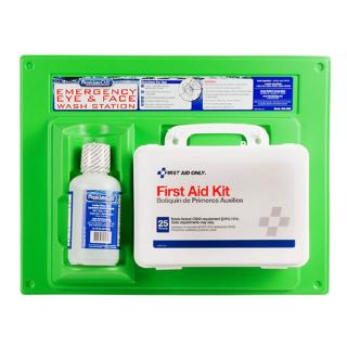 First Aid Only First Aid Kit & Eye Wash Station - Single 16 oz.