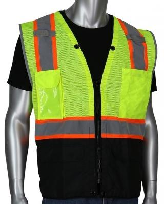 PIP ANSI Class 2 Two Tone 11 Pocket Surveyors Vest