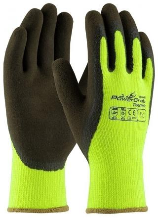 PowerGrab Thermo Hi-Vis Yellow Acrylic Gloves (Single Pair)