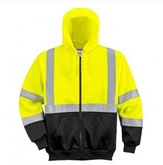 Portwest Class 3 Hi-Vis Two-Tone Zipped Hoodie