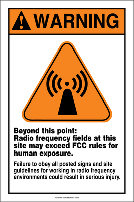 Accuform Radio frequency Fields Warning Sign
