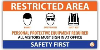 Restricted Area Job Site Safety Banner