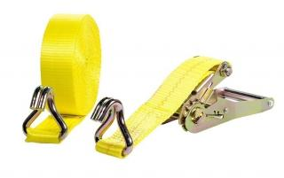 Weisner 2 inch x 27' Double J Hook Ratchet Strap Truck Tie Down