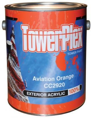TowerPlex Aviation Orange Tower Paint - 5 Gallon Pail