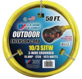US Wire & Cable SJTW 10/3 Extension Cord