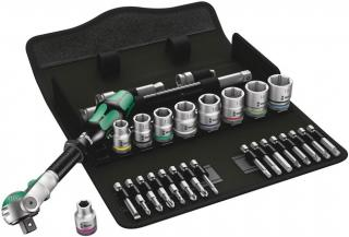 Wera Tools 8100 SB 6 Zyklop Speed Ratchet Set, 3/8 Inch Drive, Metric, 29 Pieces