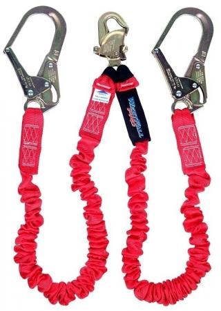WestFall Pro Shock Absorbing Twin Leg Lanyard with Rebar Hooks