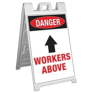 GME Supply Danger Workers Above Fold Up Job Site Sign