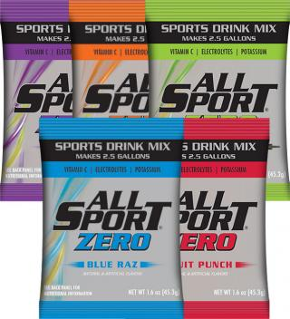 All Sport Zero Powder Drink Mix - Individual Packet Case or 2.5 Gallon Packet Case-[CS]
