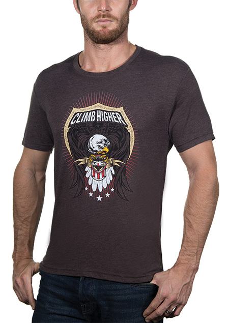 New Brown Climb Higher Shirt from GME Supply