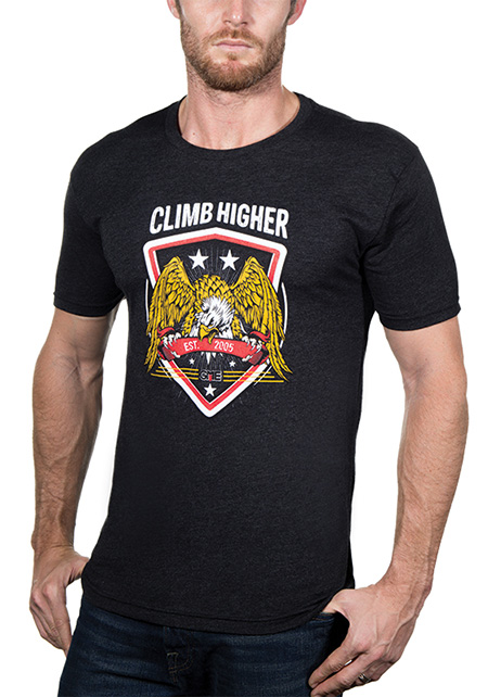 Heathered Charcoal Climb Higher Shirt - GME Supply
