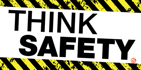 Think Safety Motivational Banner - GME Supply
