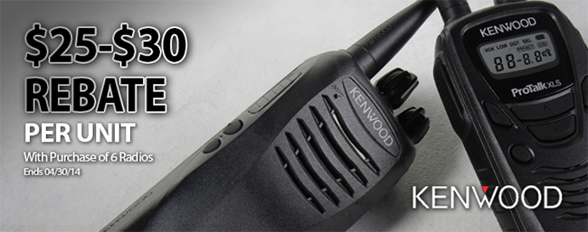 Kenwood ProTalk Two-Way Radio Rebate