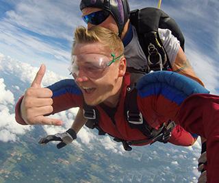Brandon Garner skydiving