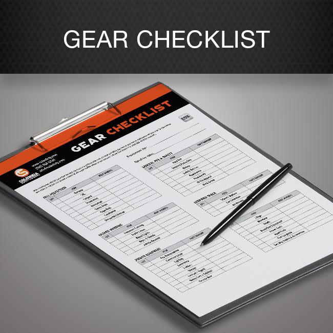 Construction / Ironworking Gear Checklist