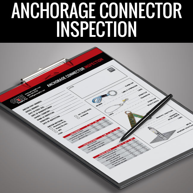 Anchorage connector inspection form by GME Supply