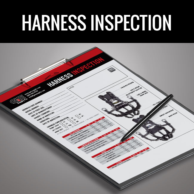 Harness inspection form by GME Supply