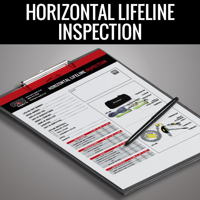 Horizontal lifeline inspection form by GME Supply