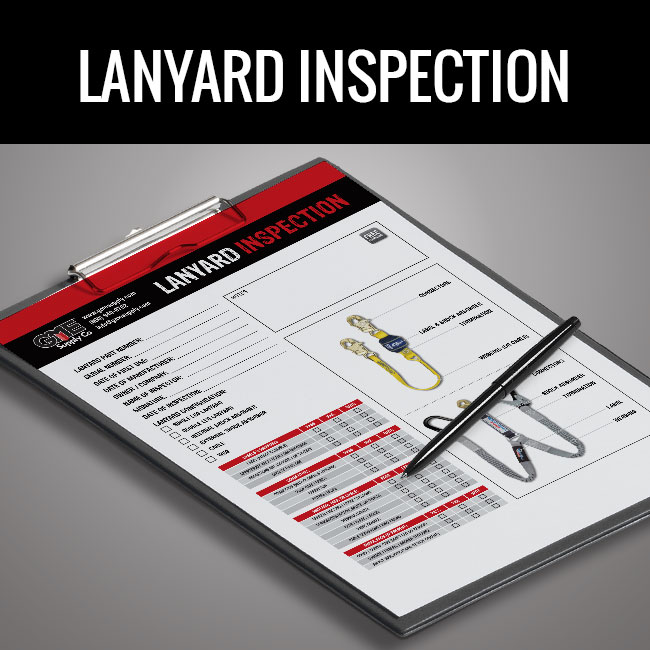 Lanyard inspection form by GME Supply