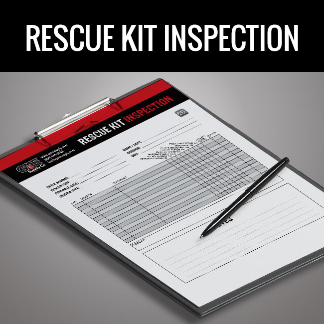 Rescue kit inspection form by GME Supply