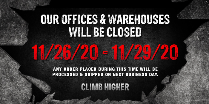 GME Supply will be closed from 11/26/2020 through 11/29/2020 to celebrate thanksgiving