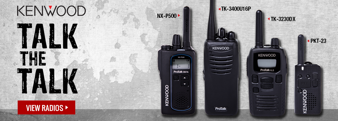 Jobsite two-way radios from Kenwood at GME Supply