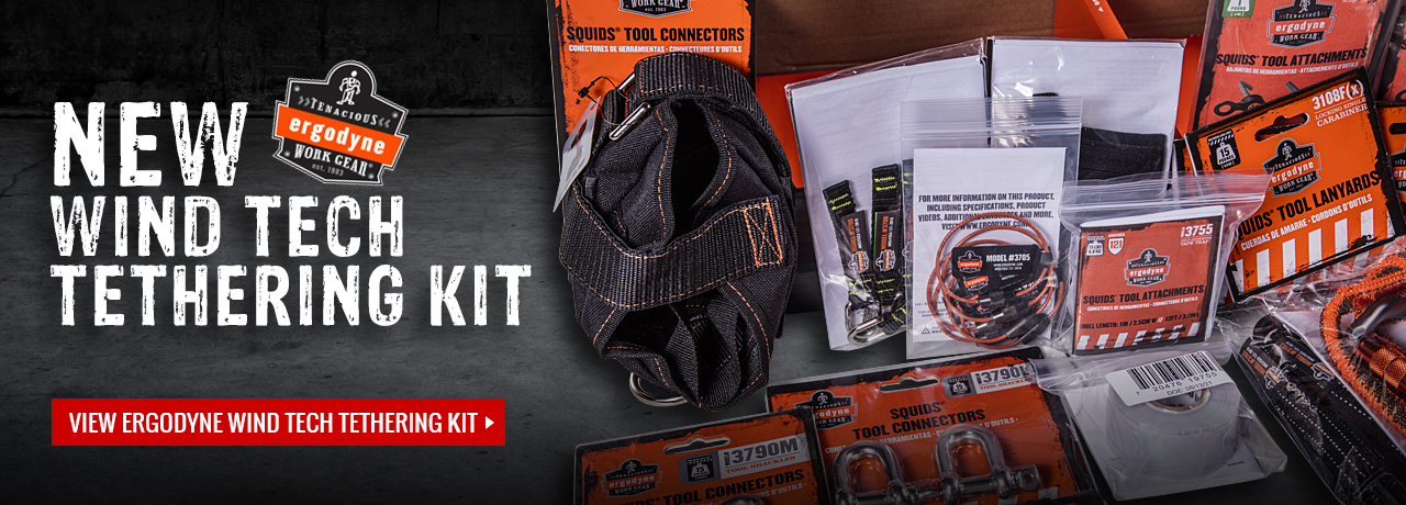 Wind technician tool tethering kit from Ergodyne at GME Supply