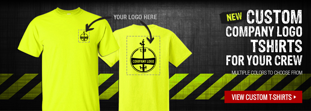 Custom company logo t-shirts at GME Supply