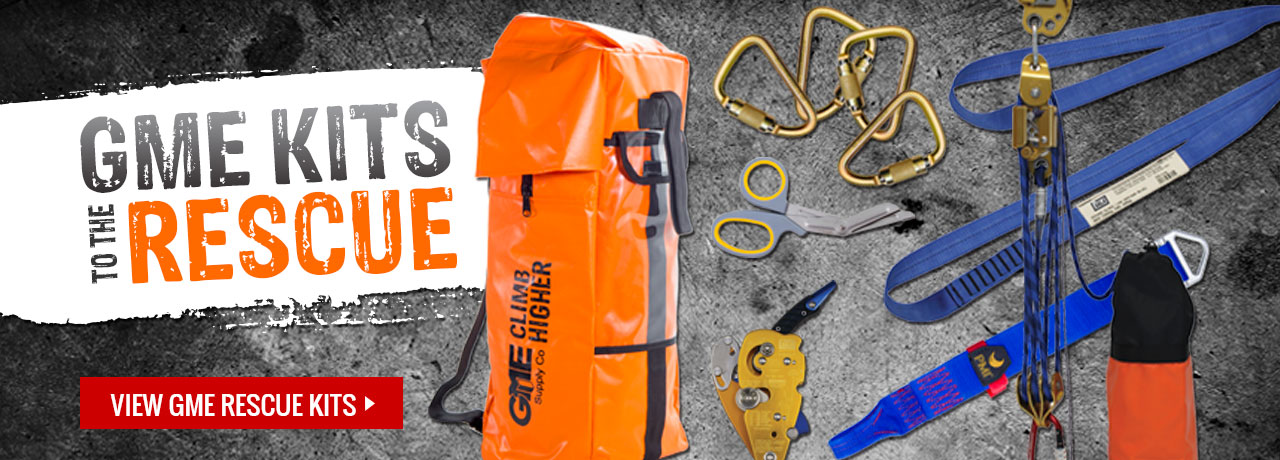 Rope and rescue kits in various configurations from a range of manufacturers at GME Supply