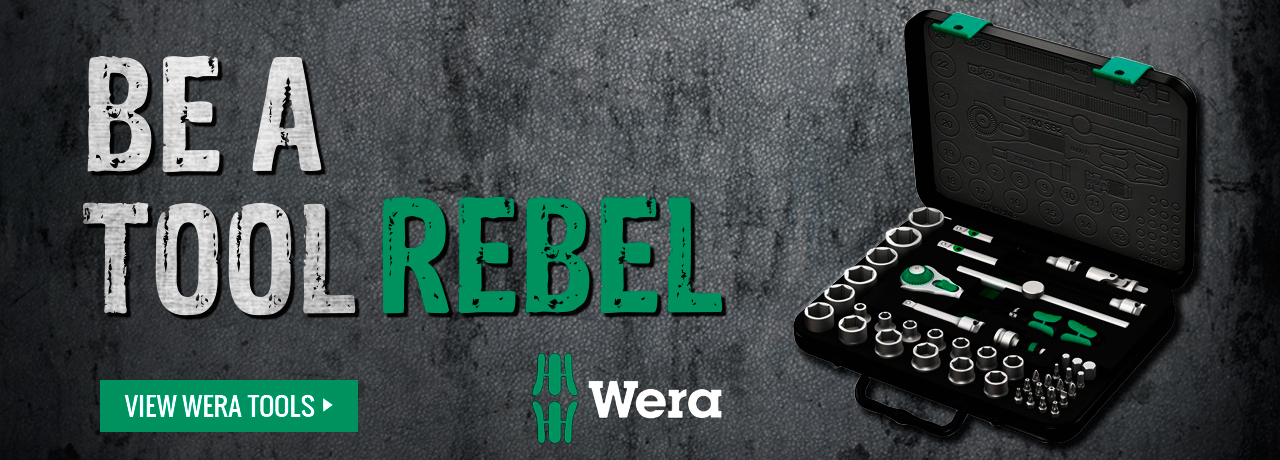 Be a tool rebel with professionally crafted hand tools from Wera Tools at GME Supply