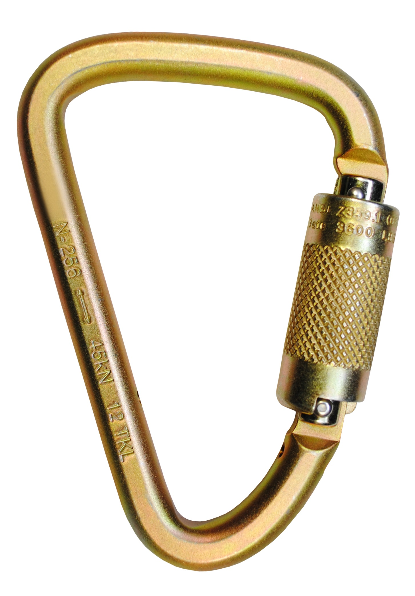 """07400, 4-7/8"""" x 3"""" Steel Carabiner with 1"""" Gate"""