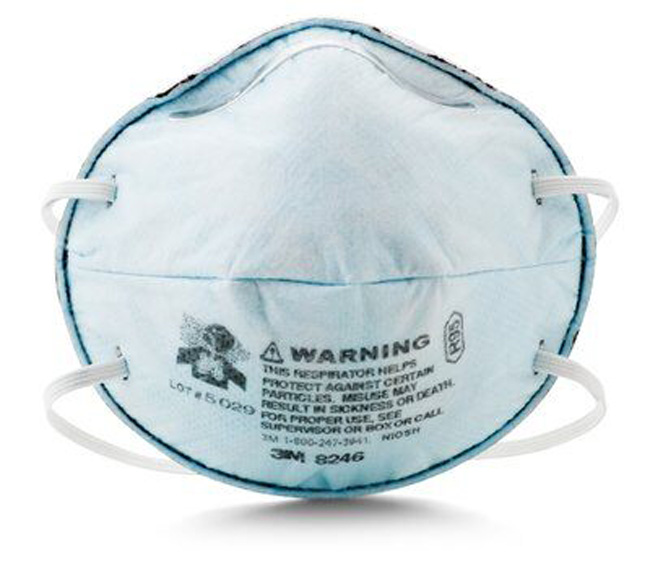 3M Particulate Respirator 8246, R95, with Nuisance Level Acid Gas Relief-[Case] from GME Supply