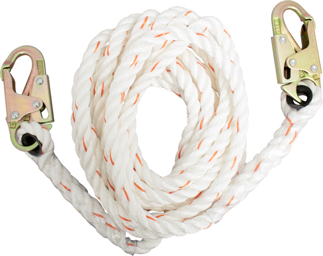 French Creek Rope Lifeline w/ Dual Snaphook Ends from GME Supply