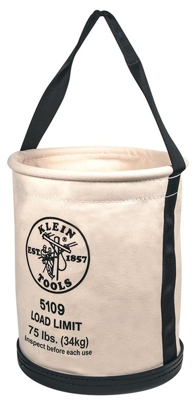 Klein Tools 5109 Wide-Opening Straight Wall Canvas Bucket from GME Supply
