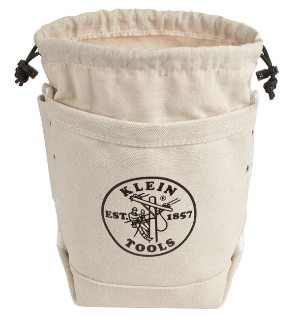 5416TCP Klein Extra-Deep Top Closing Bull-Pin & Bolt Bag w/Pocket