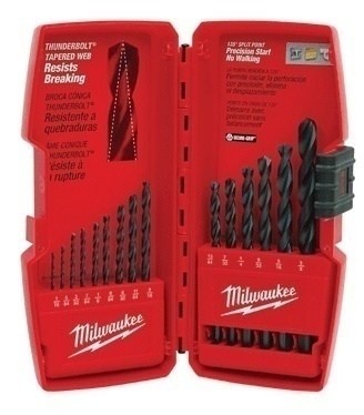 Milwaukee 48-89-2803 15 Piece Thunderbolt Black Oxide Drill Bit Set from GME Supply