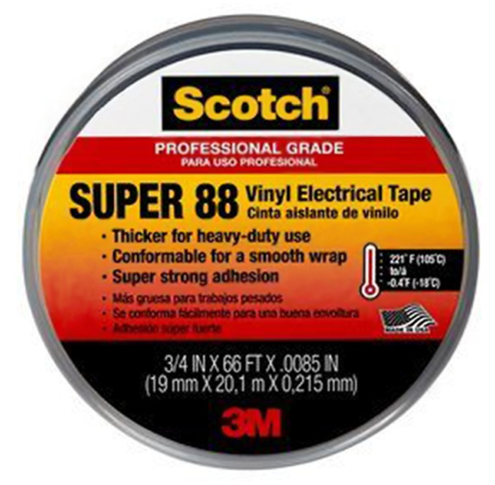 3M Scotch Super 88 Vinyl Electrical Tape from GME Supply