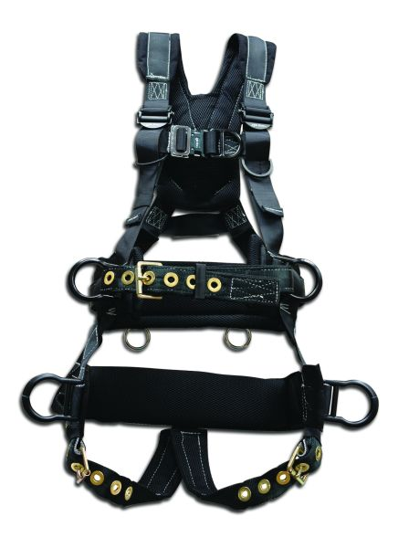 67610, Elk River Peregrine Platinum Tower Climbing 6 D-Ring Harness with Tongue Buckle Legs