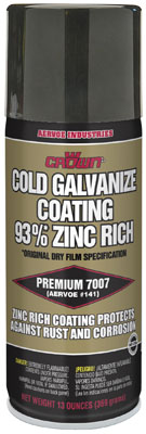 7007 Crown Zinc Rich Cold Galvanizing Compound, 12 Pack Aerosol from GME Supply