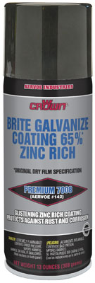 Crown 7008 Brite Aerosol Galvanizing Compound - 12 Pack