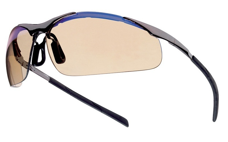 Bolle Contour Metal Safety Glasses with ESP Lens and Silver Metal Frame from GME Supply