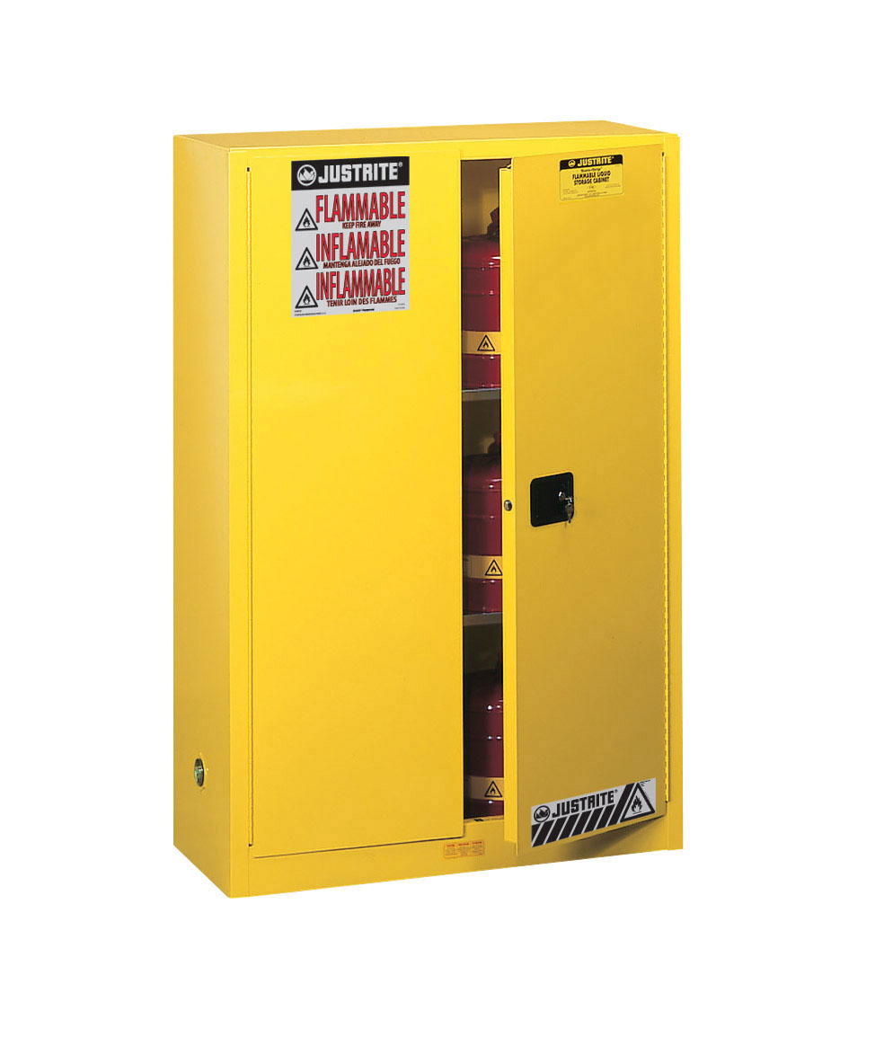 Justrite Sure Grip Ex Flammable Safety Cabinet 45 Gal Mc Doors