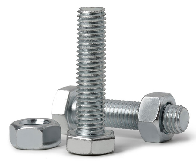 ACCUFORM SIGNS 2-1/2 X 5/16 INCH MOUNTING BOLTS & NUTS (SQUARE POST MOUNTING SET) from GME Supply