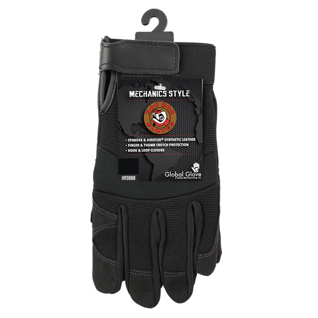 Global Glove Hot Rod Synthetic Leather Mechanics Gloves from GME Supply