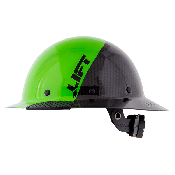 Lift Safety Dax Composite Full Brim Hard Hat - Columbia Safety Exclusive Green/Black from GME Supply